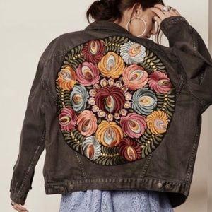 Free People Oversized Embroidered Jacket